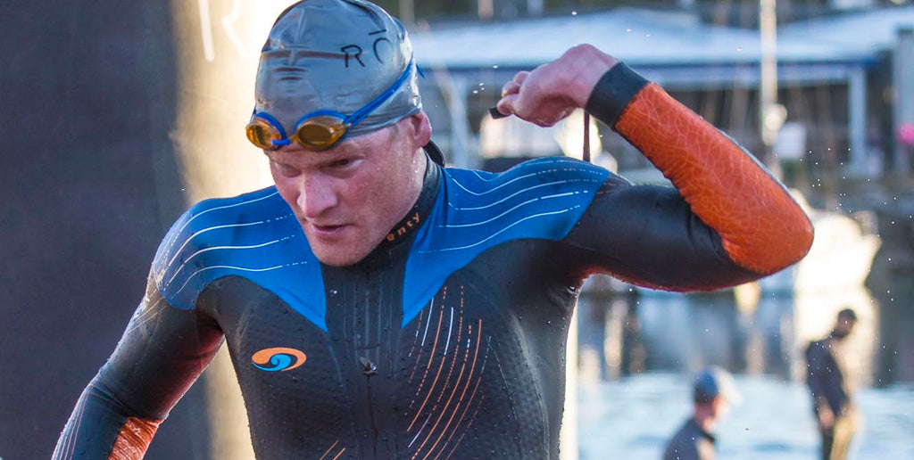 First Out of the Water: Eric Lagerstrom at Ironman 70.3 Oceanside