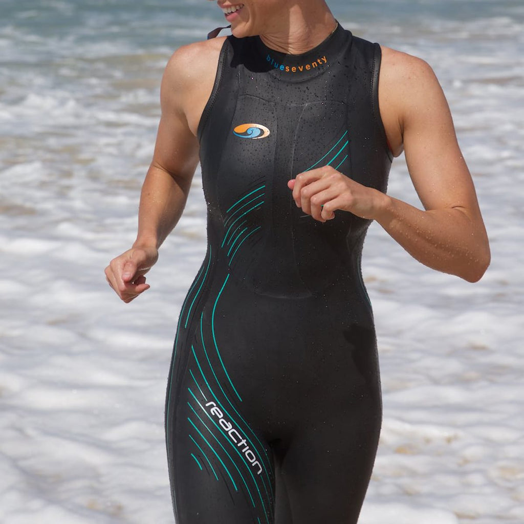 07b5f55983eb Women's Reaction Sleeveless Triathlon Wetsuit | blueseventy – blueseventy  usa