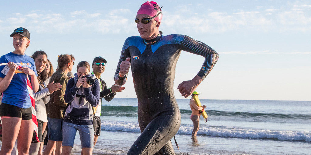 First Out Of The Water at 70.3 World Championships