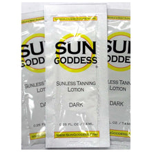 Load image into Gallery viewer, Sun Goddess - Sunless Self Tanning Lotion - Travel Size Samples