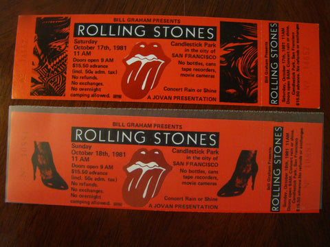 Rolling Stones J. Geils Tattoo You 1981