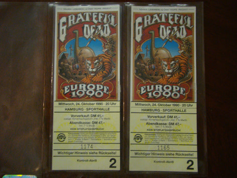 Grateful Dead Hamburg Germany Griffin Set 1990