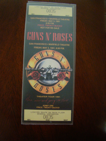 Guns N' Roses Warfield S.F. 1991