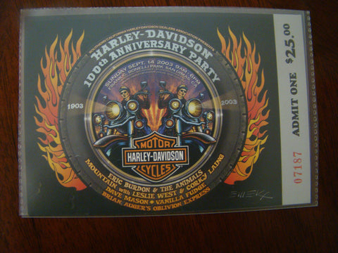 Harley Davidson 100th Anniversary Party 2003