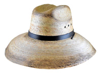 Palm Leaf Straw Lifeguard Hat - Black Band