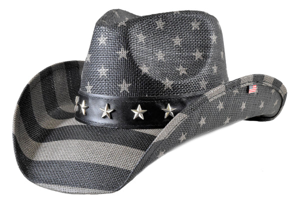 Subdued American Flag Western Hat (Stars)