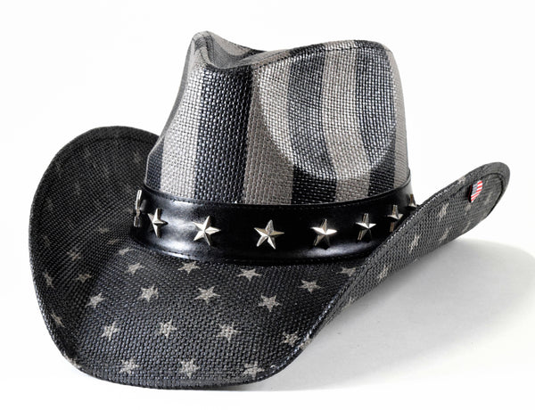 Subdued American Flag Western Hat (Stripes)