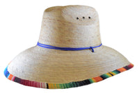 Palm Leaf Straw Lifeguard Hat - Fiesta Stripe