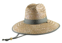 Straw Lifeguard Hat - Solid Cloth Under Brim