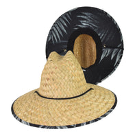 Straw Lifeguard Hat - Palm Cloth Under Brim