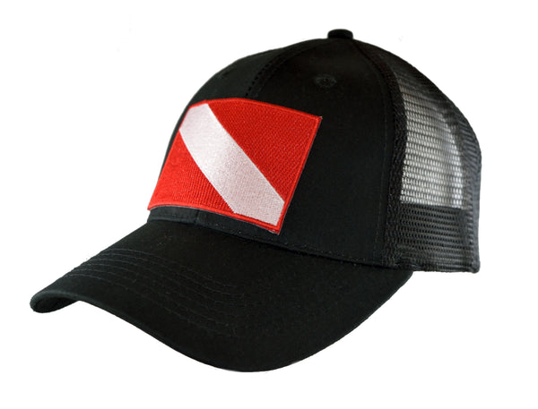 Dive Flag Mesh Trucker Cap - Diver Down Mesh Back