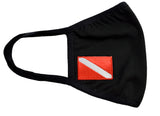 Adjustable Cloth Face Mask Dive Flag