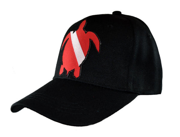 Dive Flag Baseball Cap - Turtle