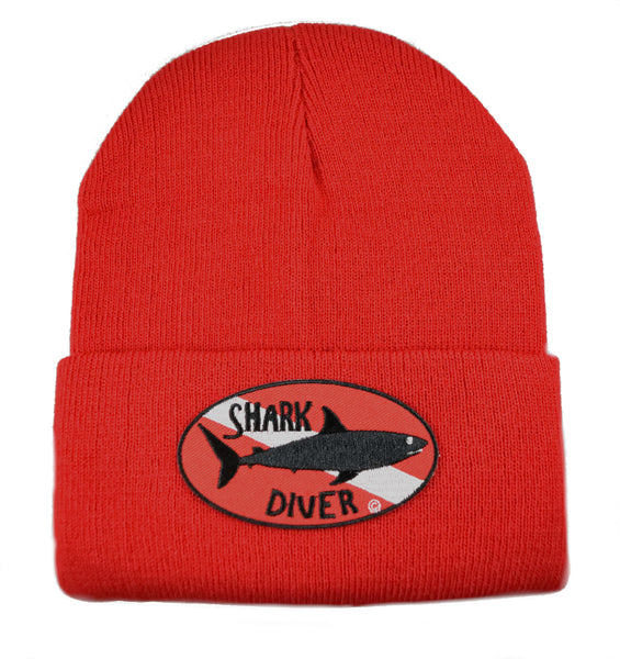 Dive Flag Beanie - Shark Diver