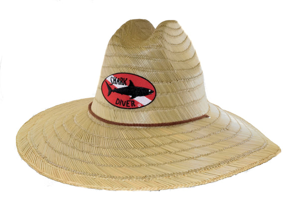 Dive Flag Straw Hat - Shark Diver