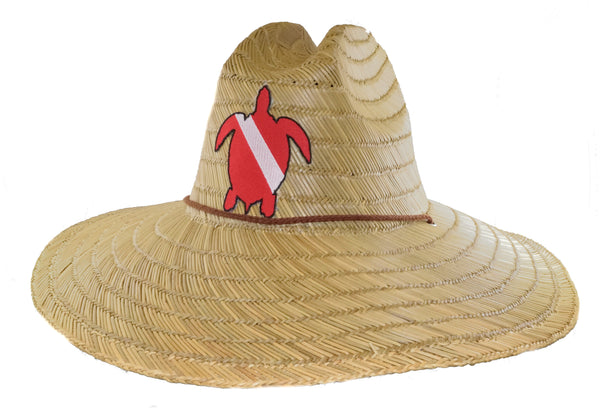 Dive Flag Straw Hat - Turtle