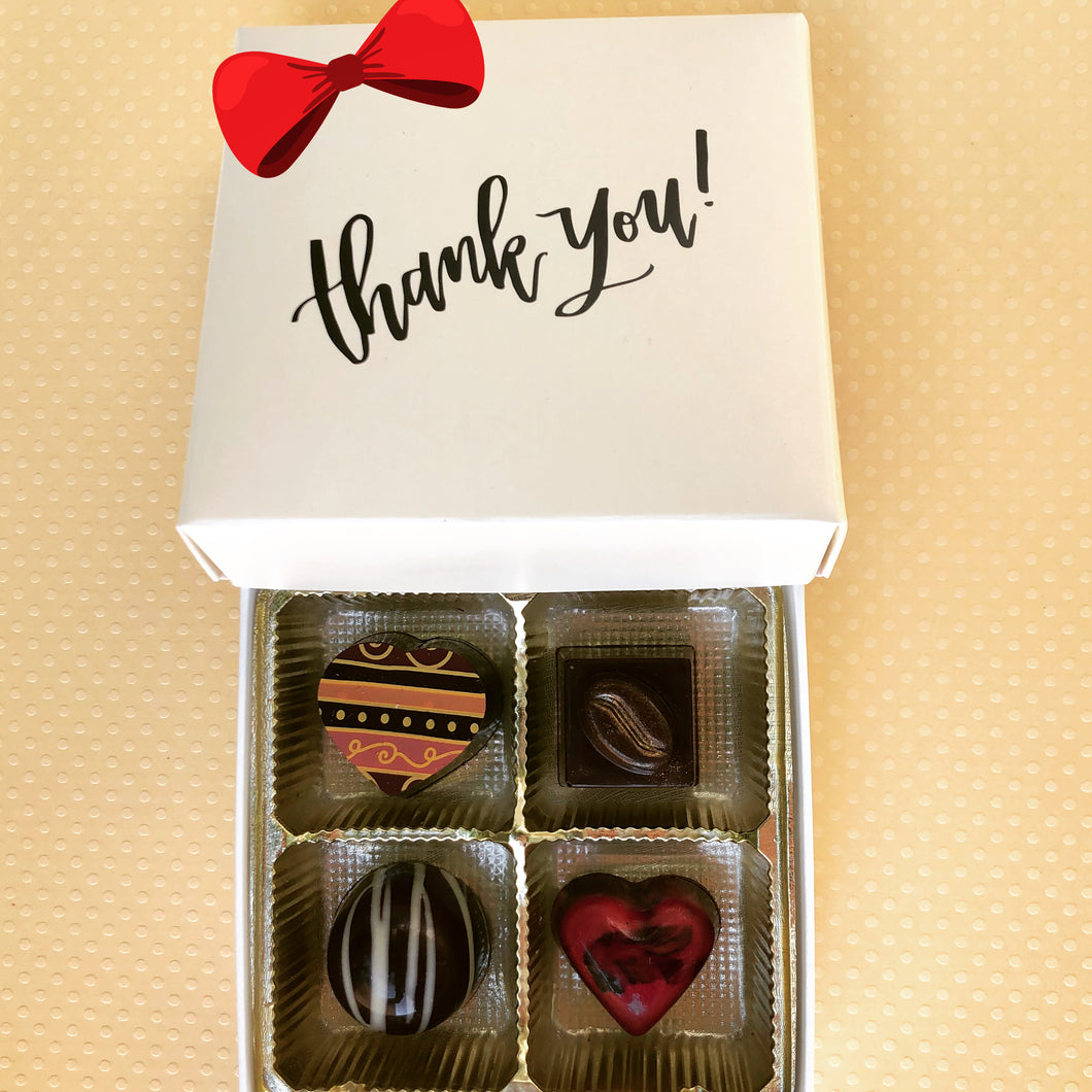 Thank You-4 Piece Box of Truffles