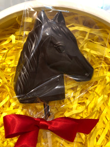 Horse Lollipop Dark or Milk Chocolate