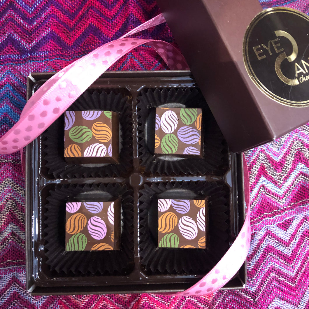 NEW Milk Chocolate Easter Truffles 4 piece box