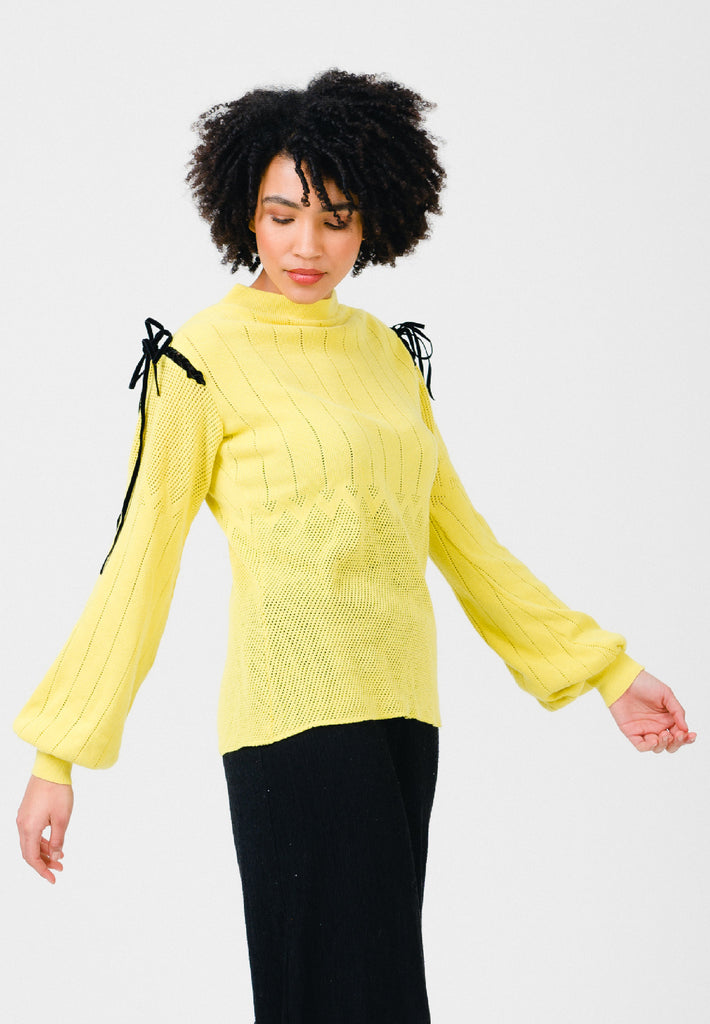 Celery Yellow Knit Top