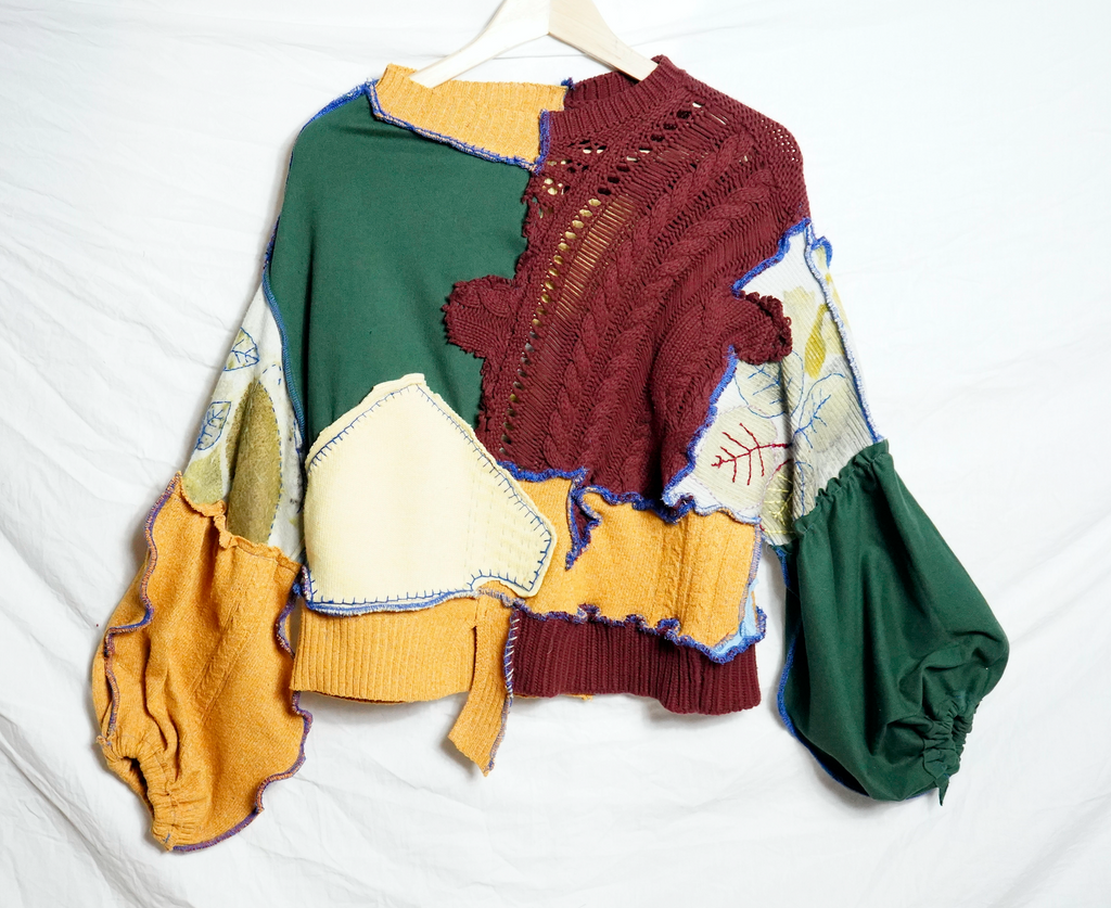 Patchwork Puzzle Leaf Jumper