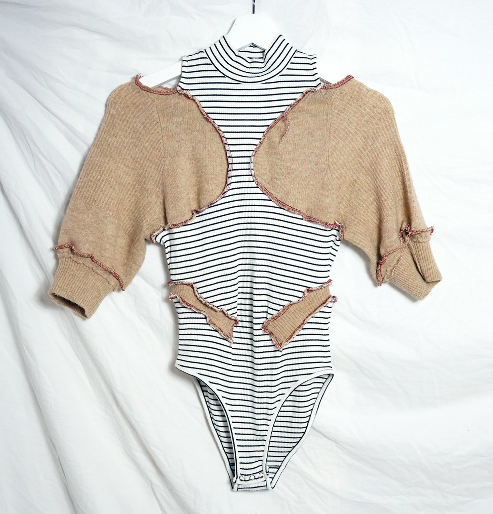 Patchwork Striped Leotard
