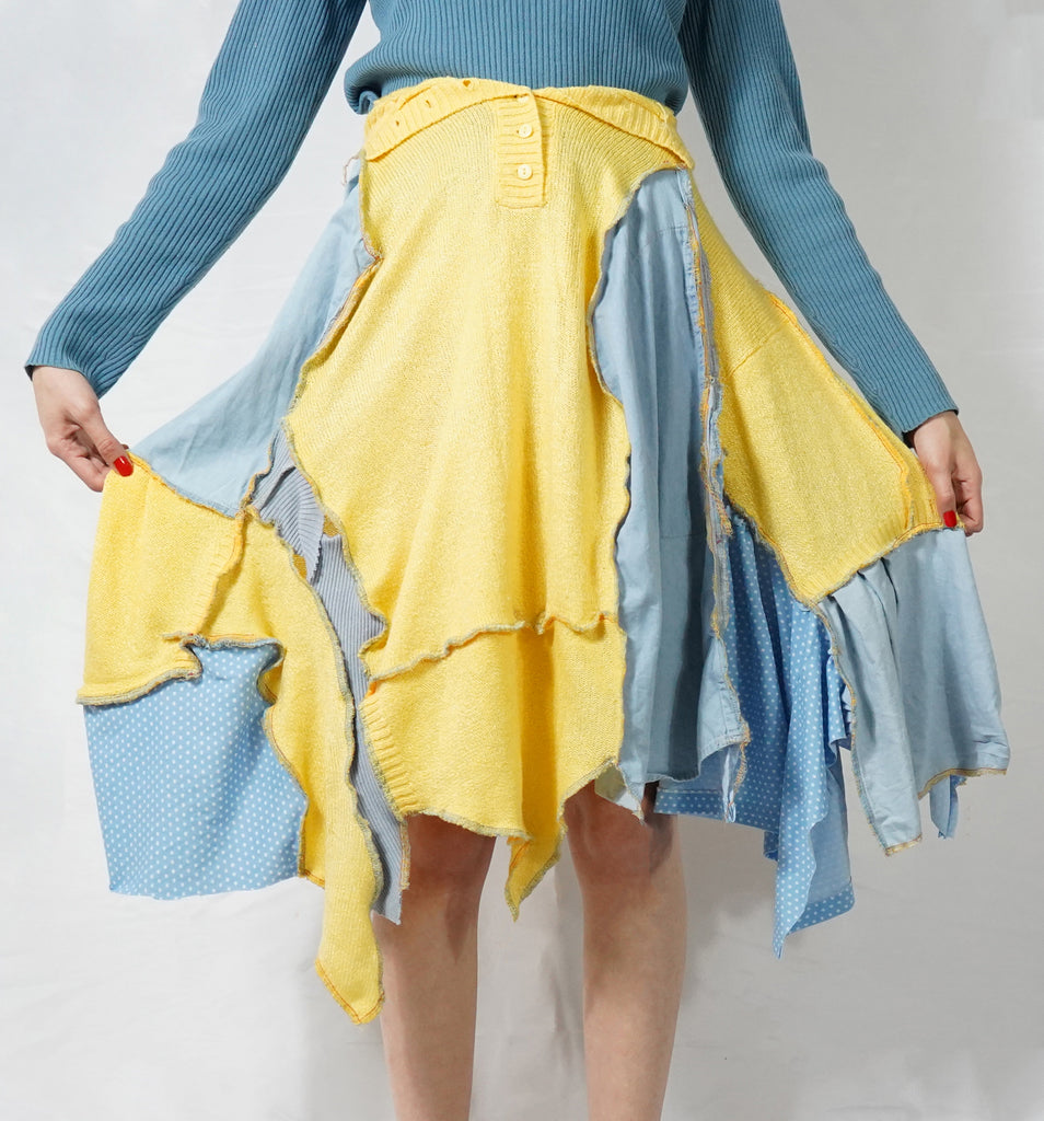 Sand & Sea Patchwork Skirt