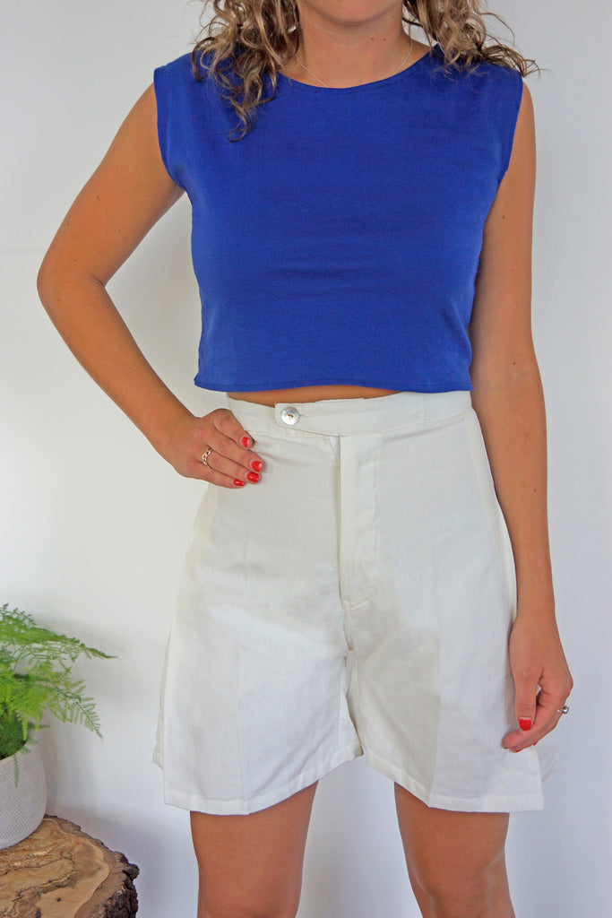Crop Top in Royal Blue