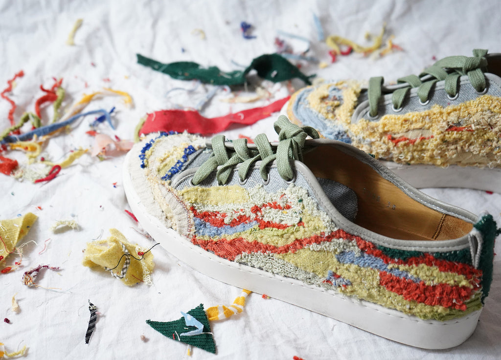 Embroidered Fabric Offcut Shoes