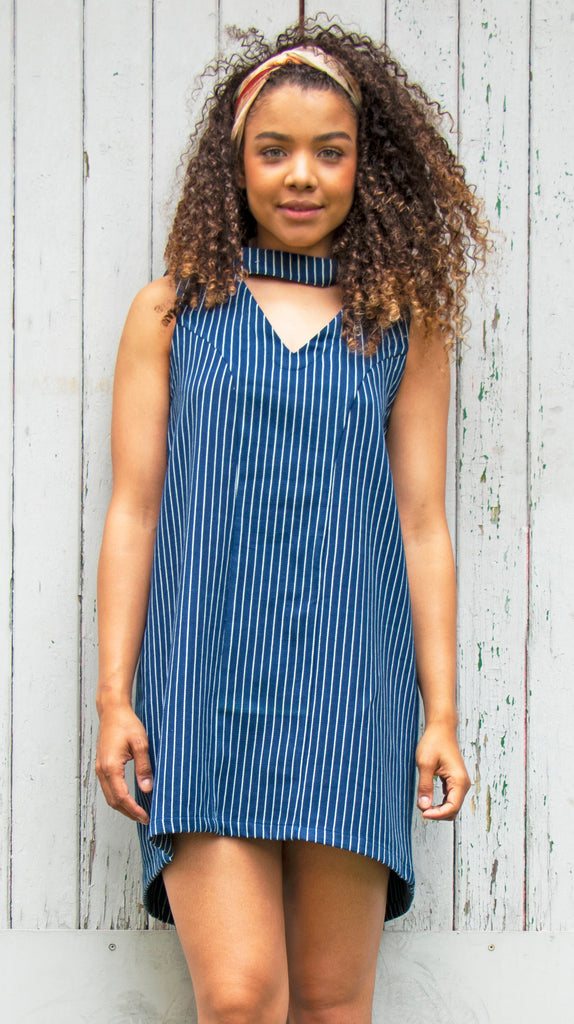 Reversible Striped Dress