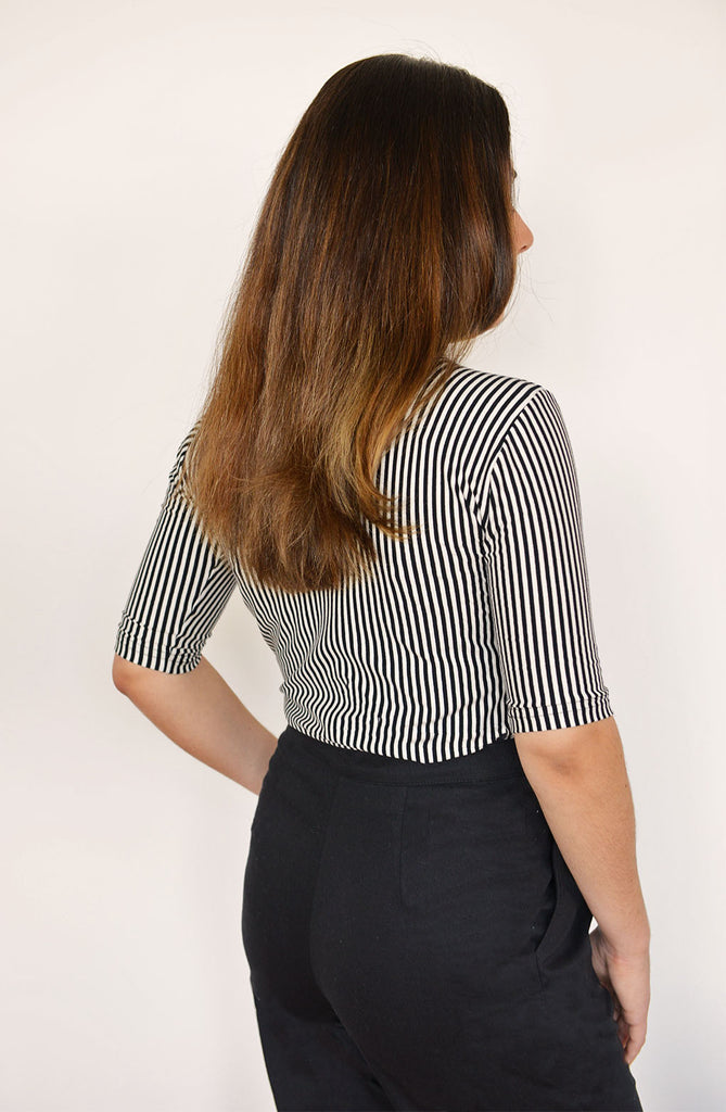 Stripe Turtleneck