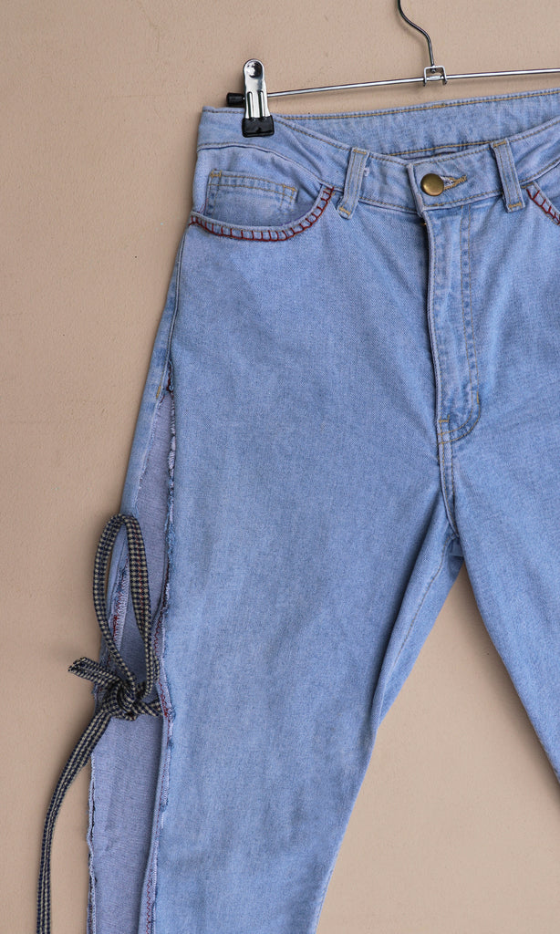 REVIVE Upcycled Side-Tie Jeans