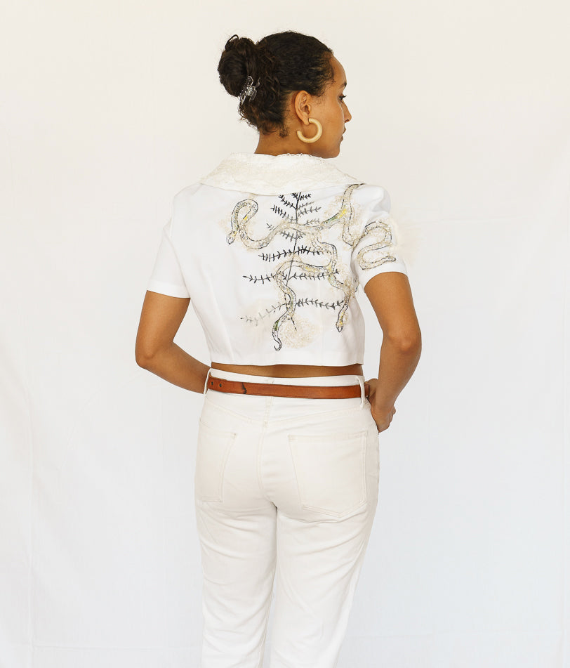 Upcycled Cropped Bolero Jacket