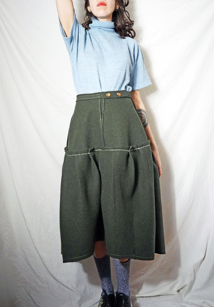 Upcycled Wool Skirt