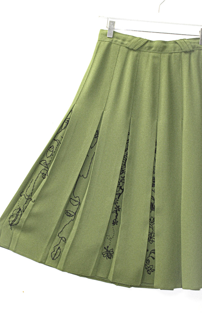 REVIVE Abstract Pleated Skirt