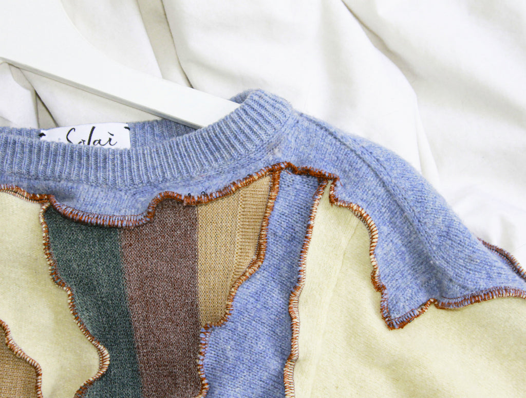 REVIVE Patchwork Summer Knit Jumper