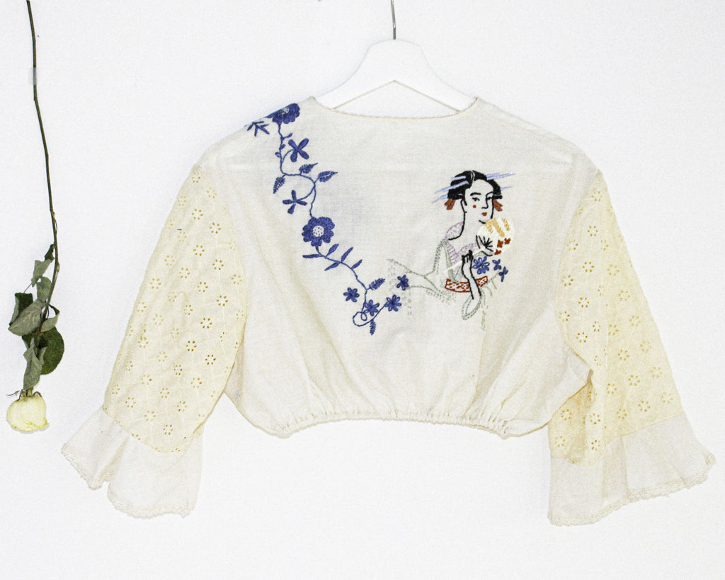 REVIVE 1970s Boho Crop