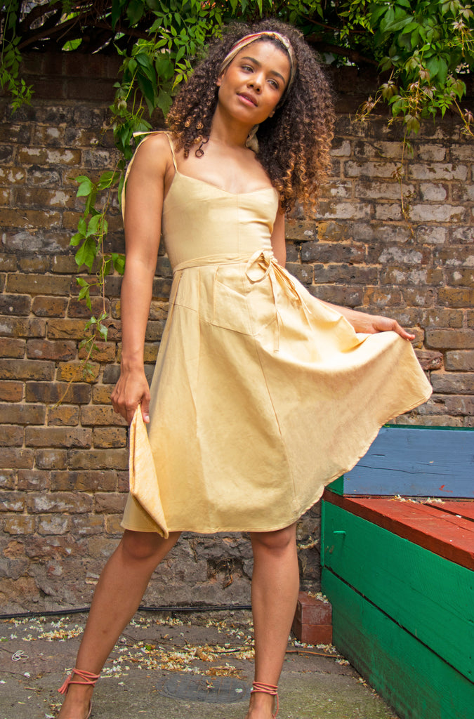 Dress in Butter Yellow