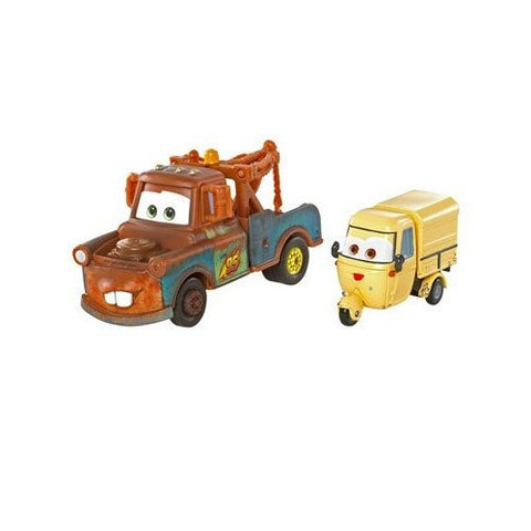 Disney Pixar Cars 2 Vehicle 2-Pack - Race Team Mater Ape and Sal Machiani