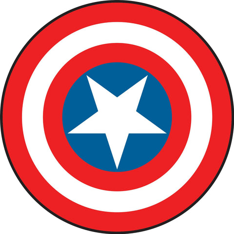 Captain America Vintage Shield Peel & Stick Giant Wall Decals