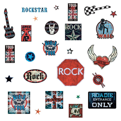 Boys Rock-n-Roll Peel and Stick Wall Decals