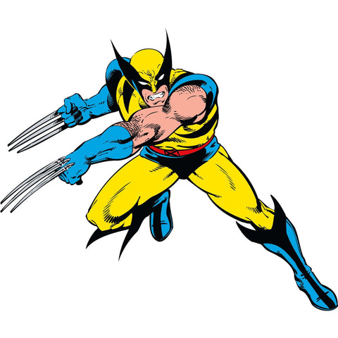 Marvel Classic Wolverine Peel And Stick Giant Wall Decals
