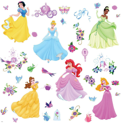 Disney Princess Peel & Stick Wall Decals With Gems