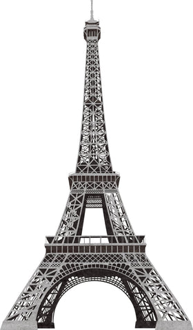 Eiffel Tower Peel and Stick Giant Wall Decals