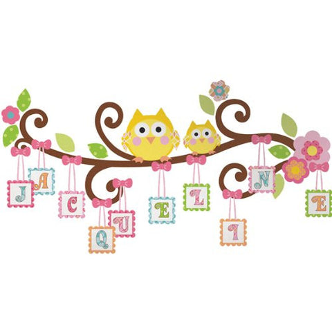 Scroll Tree Letter Branch Peel and Stick Giant Wall Decals