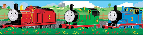 Thomas The Tank Engine And Friends Peel And Stick Wall Border