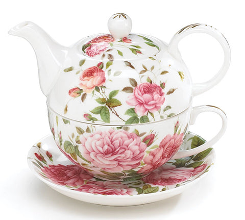 Porcelain Rose Teapot And Teacup Set