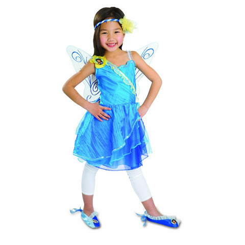 Disney Fairies Silvermist Pixie Petal Costume Dress 4-6x