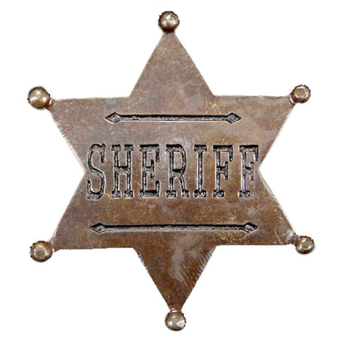Gold Star Shaped Sheriff Badge