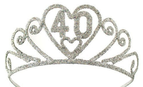 40th Birthday Glitter Tiara